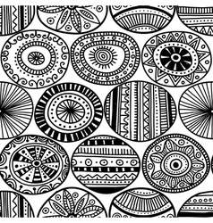 Ethnic circles seamless pattern vector