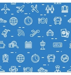 Airport Background Pattern vector image