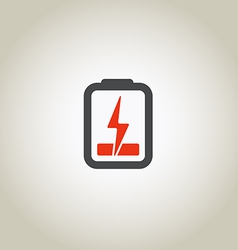 Accumulator icon with lighting symbol vector image