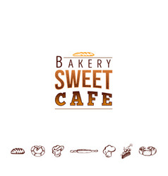 Badge for small businesses - sweet bakery the vector