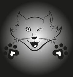 Blinking cat vector image