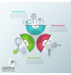 Business infographics polygon origami style vector