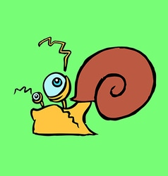 Colourful snail crawling vector