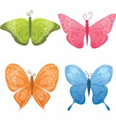 cute butterflies vector image