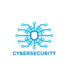 Cyber security logo template vector