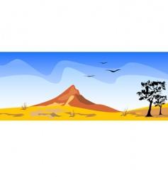 desert scenery vector image