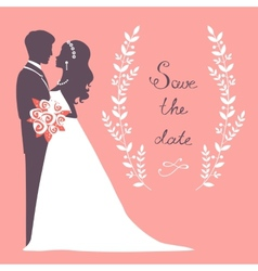 Elegant wedding couple vector image vector image