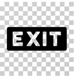 Exit label icon vector
