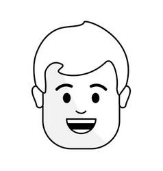 Figure people happy face man icon vector