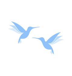 flying hummingbirds vector image