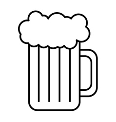 Fresh beer container isolated icon vector