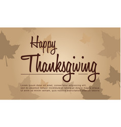 Happy thanksgiving celebration greeting card vector