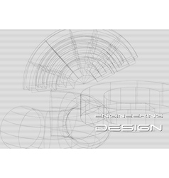 Hi-tech engineering background vector image vector image