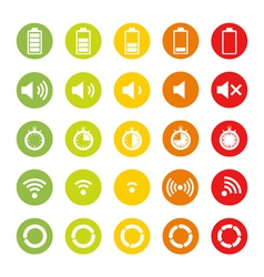 Indicators Icons vector image