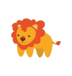 Lion cute animal little icon graphic vector image vector image