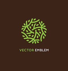 logo design template in green color vector image