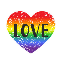 Love gay pride emblem vector