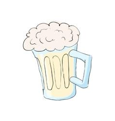 Mug with beer icon cartoon style vector image vector image