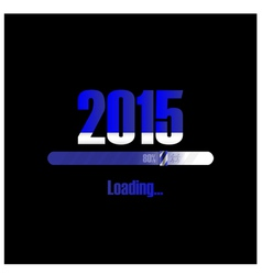 New year 2015 loading background vector image vector image