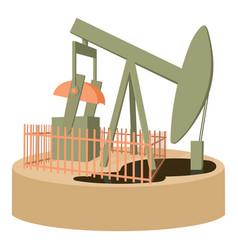 Oil pump icon cartoon style vector