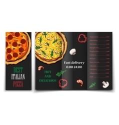 pizza food menu cafe brochure vector image vector image