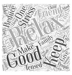 Reduce tension word cloud concept vector