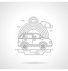 Ride car detailed line vector
