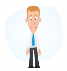 sad manager vector image vector image