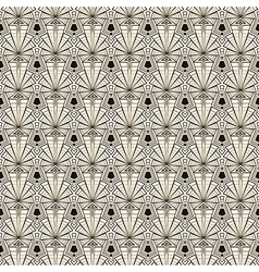Seamless retro art deco pattern vector image