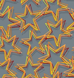 Star seamless pattern Abstract 3d star texture vector image vector image