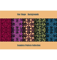 star shape backgrounds vector image vector image