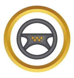 Steering wheel of taxi icon vector