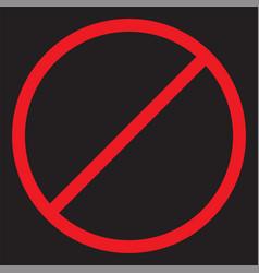stop icon forbidden sign vector image vector image