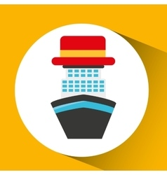 Travel tourist hat concept sea cruise vector