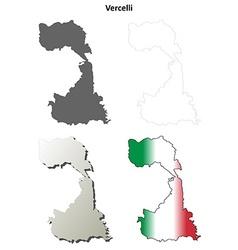 Vercelli blank detailed outline map set vector image vector image