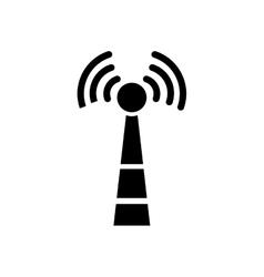 Wifi zone antenna vector image