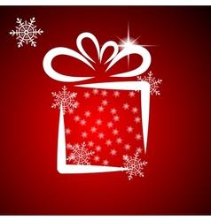 Christmas with gift box 2 vector image