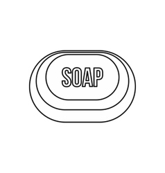 Soap icon outline style vector