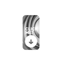 Abstract rectangle button template vector