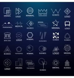 Minimal vintage logos and badges big collection vector image