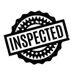 Inspected rubber stamp vector