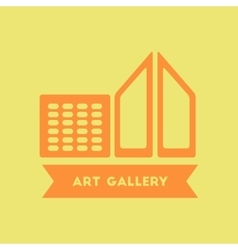 Art gallery building vector