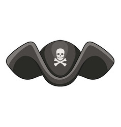 Piracy hat icon cartoon style vector