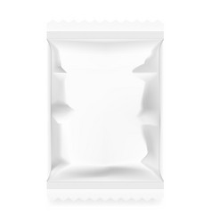 White food snack paper pillow bag vector