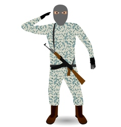 Soldier with rifle vector