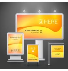 Outdoor advertising design vector
