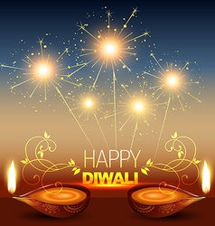 Shiny diwali background vector