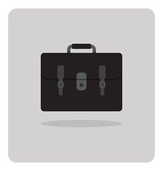 Flat icon school bag vector
