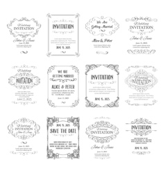 set of page templates vector image