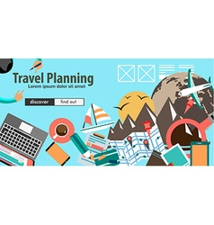 Flat design concept for travel organization and vector
